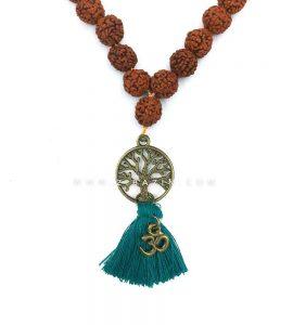 آویز رودراکشا گره دار طرح درخت زندگی : کد 6