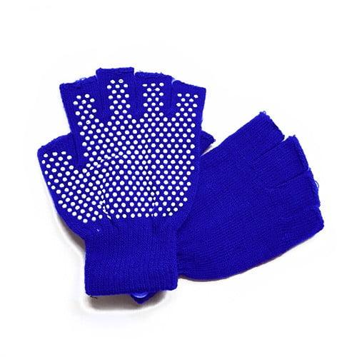دستکش ضد لغزش يوگا و پيلاتس : آبی