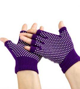 دستکش ضد لغزش يوگا و پيلاتس : بنفش