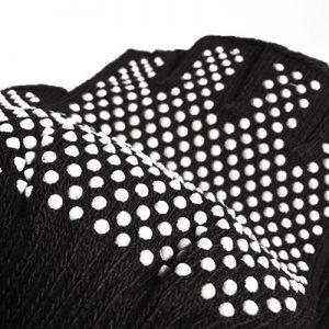 دستکش ضد لغزش يوگا و پيلاتس : مشکي