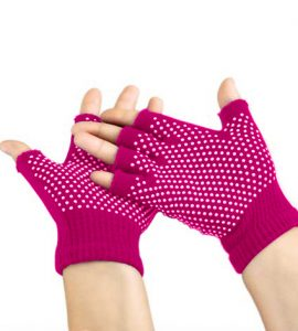 دستکش ضد لغزش يوگا و پيلاتس : سرخآبی