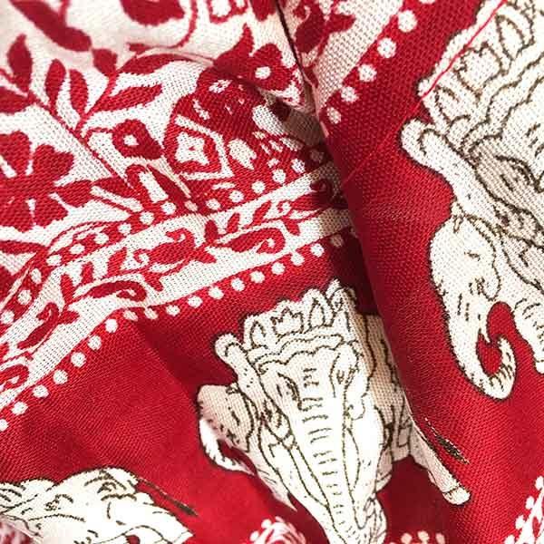شلوار هيپي يوگا طرح فيل : قرمز شيري