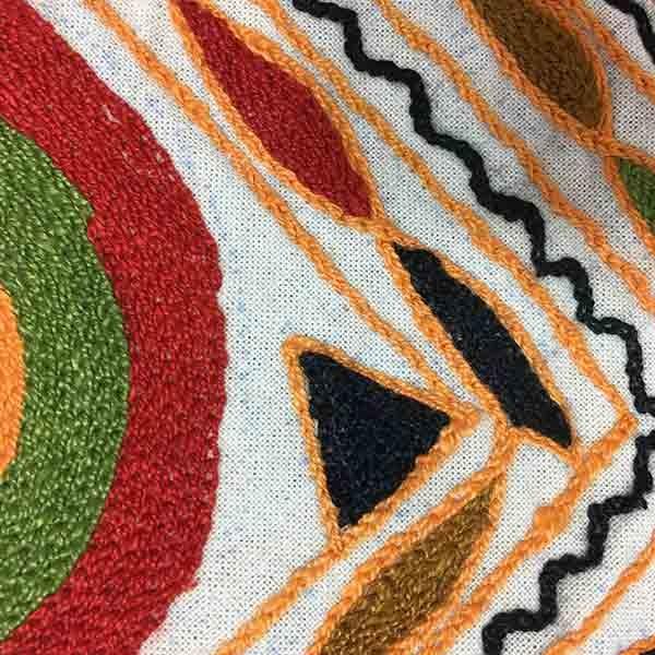 کاور کوسن دست دوز هوناری هندی : زمينه چهار رنگ
