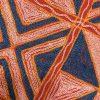 کاور کوسن دست دوز هوناری هندی طرح چهار خونه : زمينه قرمز