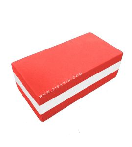 آجر دو رنگ فومی یوگا : قرمز سفید