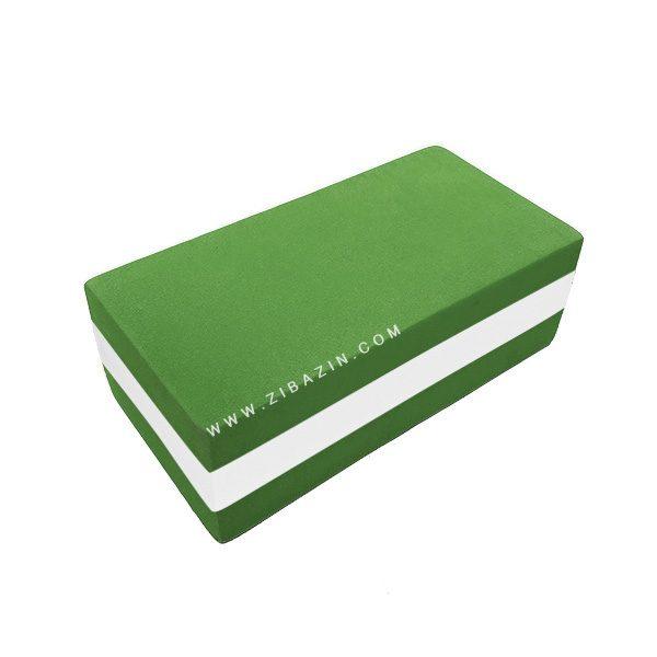 آجر دو رنگ فومی یوگا : سبز سفید