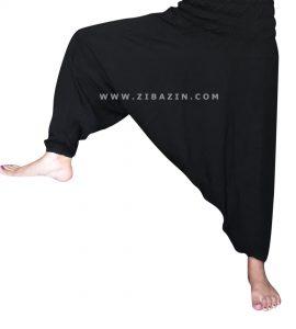 شلوار هیپی یوگا فاق بلند : مشکی