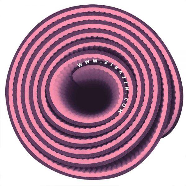 مت یوگا و پیلاتس (TPE) دو لایه ۵ میل : سرخابی بنفش