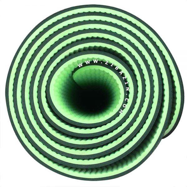 مت یوگا و پیلاتس (TPE) دو لایه ۵ میل : سبز