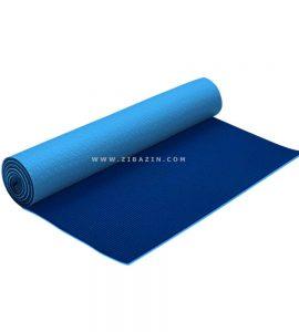مت يوگا و پيلاتس (PVC) دولايه استپ دار 6 ميل : آبی