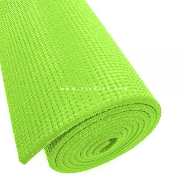 مت یوگا و پیلاتس (PVC) 8 میل : سبز + کاور رایگان
