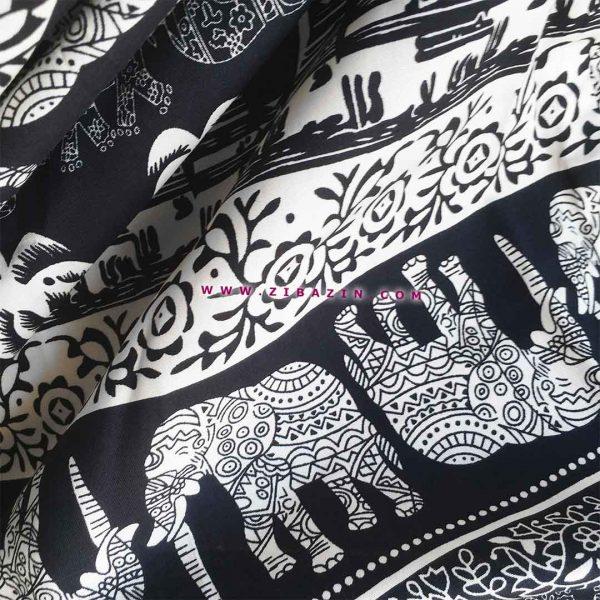 شلوار هیپی یوگا فاق بلند : طرح فیل و نخل