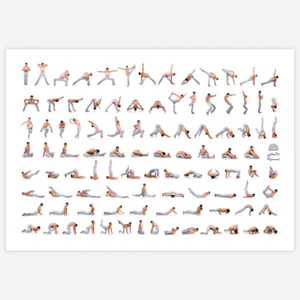 پوستر آساناهای یوگا