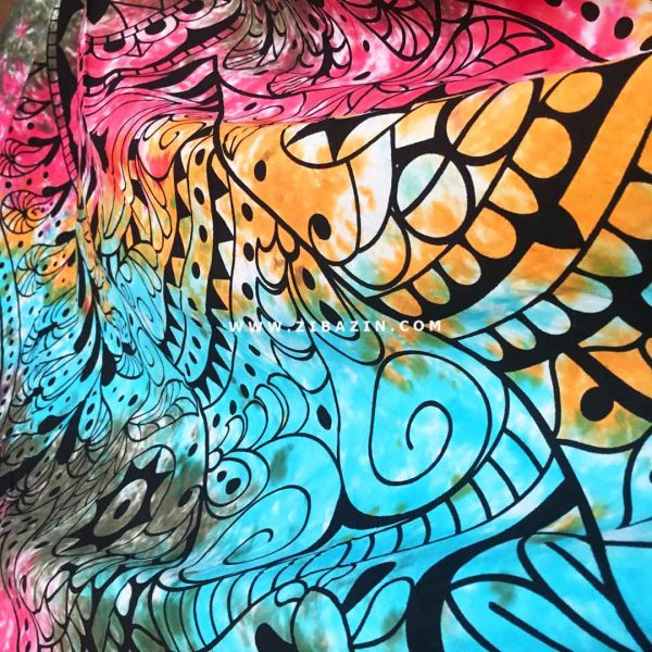 دیوار آویز (بکدراپ) و روتختی دو نفره طرح دست همسا : مولتی کالر