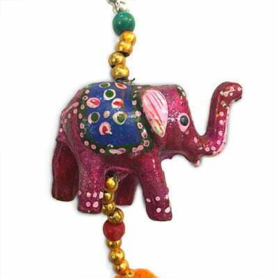 آویز دستساز چوبی طرح : فیل