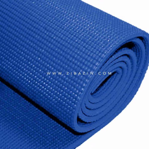مت یوگا و پیلاتس (PVC) 6 میل : آبی کاربنی + کاور رایگان