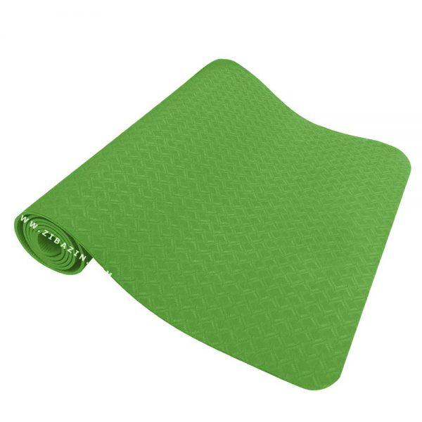 مت یوگا و پیلاتس (TPE) تک رنگ ۸ میل : سبز