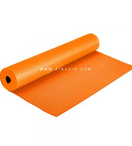مت یوگا و پیلاتس (PVC) تک رنگ ۶ میل : نارنجی + کاور رایگان