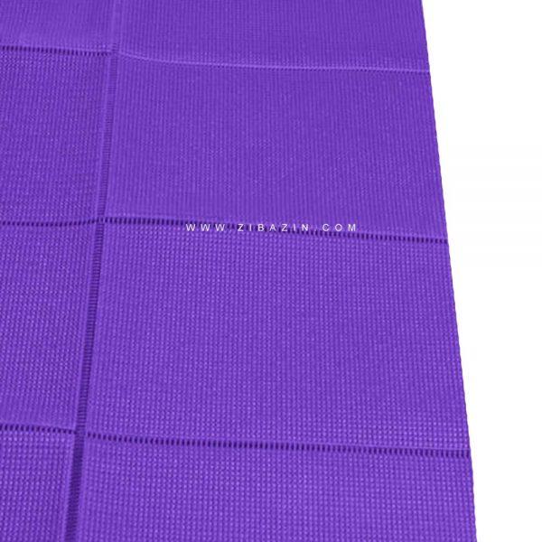 مت یوگا و پیلاتس (PVC) تاشو : بنفش + کاور رایگان
