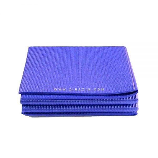 مت یوگا و پیلاتس (PVC) تاشو : آبی + کاور رایگان