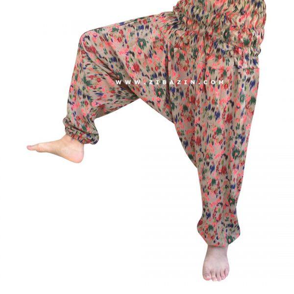 شلوار هیپی یوگا فاق بلند : طرح سرخ پوستی