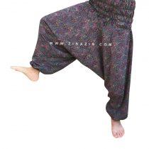 شلوار هیپی یوگا فاق بلند : طرح ترنج