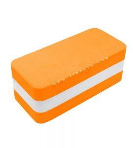 آجر دو رنگ فومی یوگا : نارنجی سفید