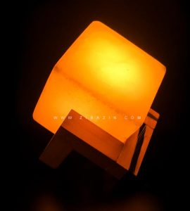 چراغ سنگ نمک طرح : مکعب