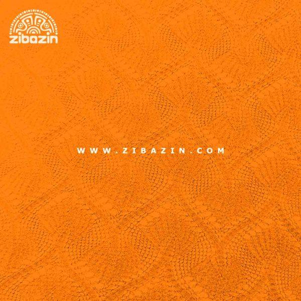 مت یوگا و پیلاتس (TPE) دو لایه ۸ میل : نارنجی مشکی