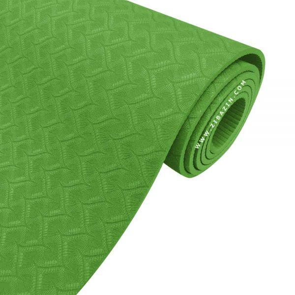 مت یوگا و پیلاتس (TPE) تک رنگ ۶ میل : سبز